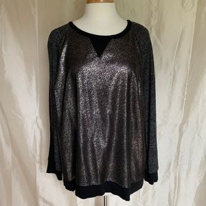 Apt. 9 Shiny Pull Over-Excellent Condition